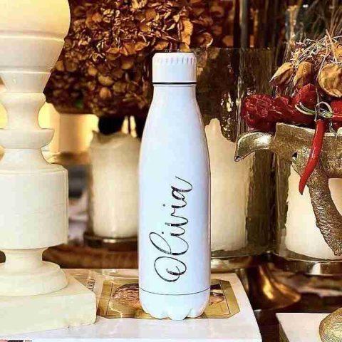 Botella personalizada blanca