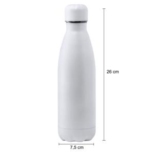 Botella personalizada blanca mate medidas