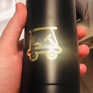 Botella personalizada negra