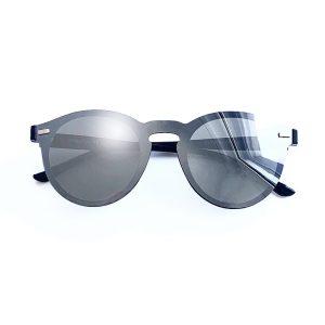 gafa de sol polarizada redonda gris