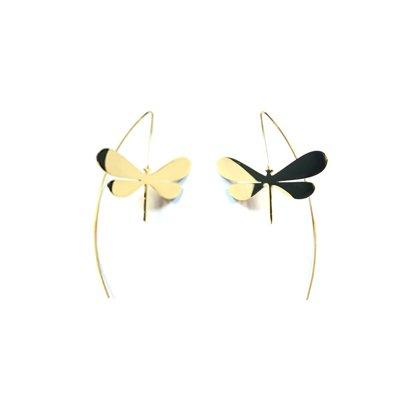 Pendientes acero inoxidable libélula bodelei